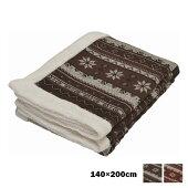 合わせ毛布シングル140×200cmノルディック柄京都西川ぬくもりの森2CJ5862