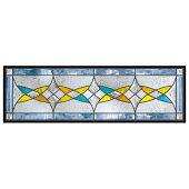 ステンドグラス(SH-C39)927×289×18mm幾何学デザインピュアグラスCサイズ(約8kg)※代引不可