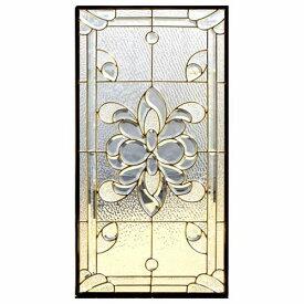 ステンドグラス (SH-A02) 913×480×18mm デザイン ピュアグラス クリア Aサイズ (約13kg) ※代引不可 メーカー在庫限り