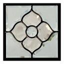 ステンドグラス (SH-D02) 200×200×18mm デザイン ピュアグラス Dサイズ (約2kg) 【メーカー在庫限り】 ※代引不可