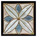 ステンドグラス 【メーカー在庫限り】 (SH-D06) ハーフミラー 200×200×18mm デザイン ピュアグラス Dサイズ ※代引不可