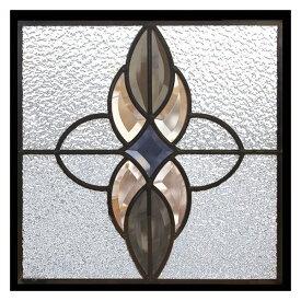 ステンドグラス (SH-E02) 一部鏡面ガラス 300×300×18mm デザイン アンティーク ピュアグラス Eサイズ (約3kg) ※代引不可