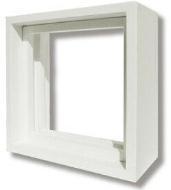 ステンドグラス専用木枠 SH-D用 (200角 室内用) ホワイト色 SHF-XD1 ※代引不可
