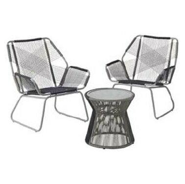アウトドア ファニチャー ガーデンテーブルセット LOGOS Smart Garden スリングテラス3 ガーデンファニチャー チェアセット メッシュ