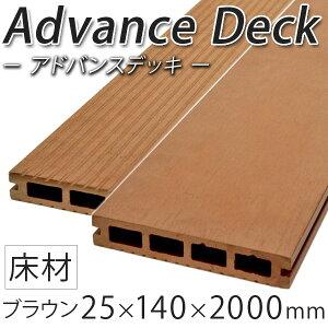 ウッドデッキ 人工木 25×140×2000mm ブラウン(5.0kg) アドバンスデッキ DIY 材料 床材 面材 中空材 ウッドデッキ材 樹脂デッキ 人工木材 樹脂 ウッドデッキ部材 人工木ウッドデッキ ※送料別途