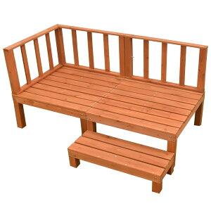 【送料無料】ウッドデッキキット天然木シダー製[6点セット][ライトブラウン]0.5坪【DIYデッキ】
