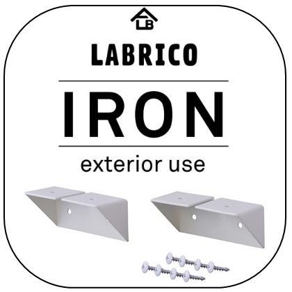 LABRICO IRON(ラブリコ アイアン) 2×4/1×4 シェルフサポート ホワイト(IX0-2)