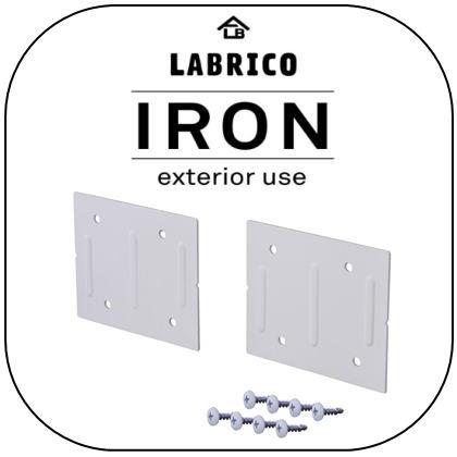 LABRICO IRON(ラブリコ アイアン) 2×4/1×4 ジョイント ホワイト(IXO-4)