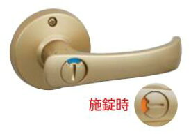 川口技研 取替TKレバー 表示錠 GIKEN-DT1-4M-MG ゴールド色 バックセット60ミリ 取替用レバーハンドル