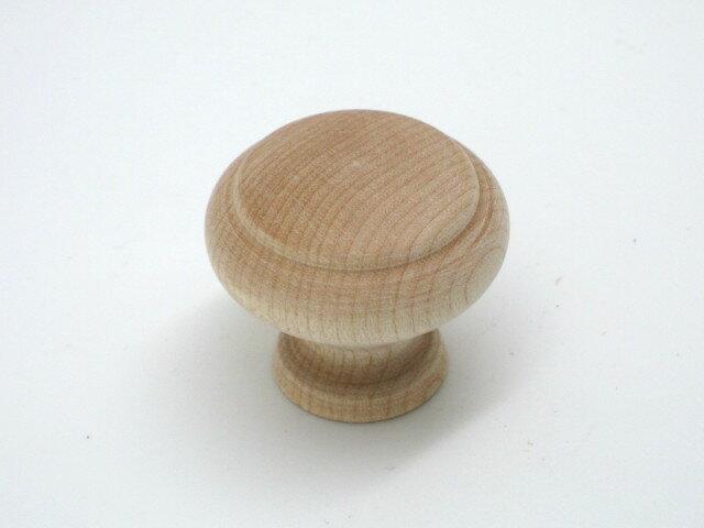 【メール便可】山伸 木製ツマミ 生地 FR−206 外径31.5mm 1個入 ビス付