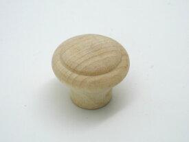 【メール便可】山伸 木製ツマミ 生地 DC−55 外径30mm 1個入 ビス付