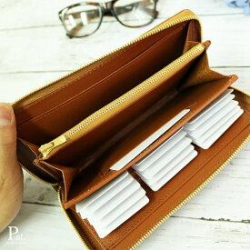 diyplus カードたくさん入る長財布メンズ メンズ 19春夏 本革、カード大容量収納モデル キャメル、金具ゴールド/シルバー マチ2.5〜3.0cm×横20.5cm×高さ11.0cm 100czi