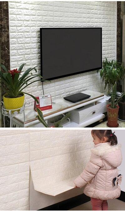 クッションパネルクッションフォームフォームブリックブリックシートレンガ柄レンガ風レンガ調3D壁紙立体壁紙クッション壁紙結露防止板壁ブリック軽量アンティークレンガリフォームリビング子供部屋内装内壁