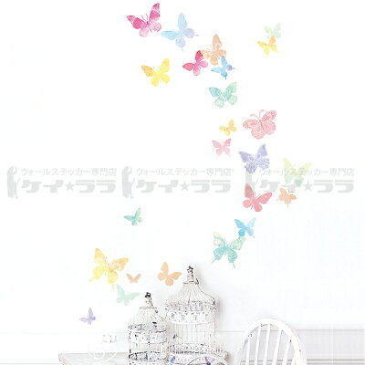 淡い色の蝶