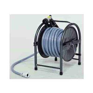 GL HR-S20(GY) スチールホースリールセット 20m(GY)  ホースリール 水やり 水まき