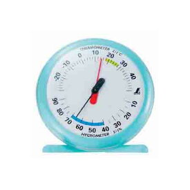 温湿度計 Q-1 15cmライトブルー 70494