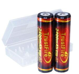 【正規品】TrustFire 18650 3400mAh リチウムイオン 充電池 2本セット