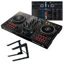 Pioneer DJ DDJ-400 + PCスタンドセット【rekordbox djライセンス付属】【セットアップチュートリアル機能搭載】
