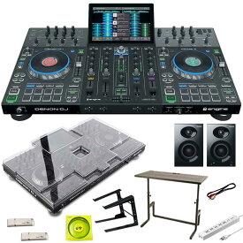 DENON Prime 4 + DJ233 DJテーブル SET 【保護カバー+USBメモリ+USBケーブル+電源タップ+パワードスピーカープレゼント】
