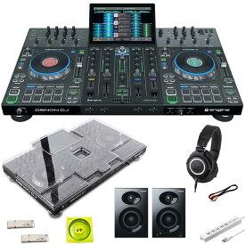 DENON Prime 4 + ATH-M50x 高音質ヘッドホン SET 【保護カバー+USBメモリ+USBケーブル+電源タップ+パワードスピーカープレゼント】