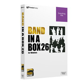 PG Music Band-in-a-Box 26 for Windows EverythingPAK【予約商品 / 7月下旬入荷予定】
