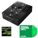 Pioneer DJ DJM-S3 + Seratoコントロールヴァイナル GREEN DVS SET 【高品質のOYAIDE d+USBケーブル class B(1.0m)をプレゼント!】