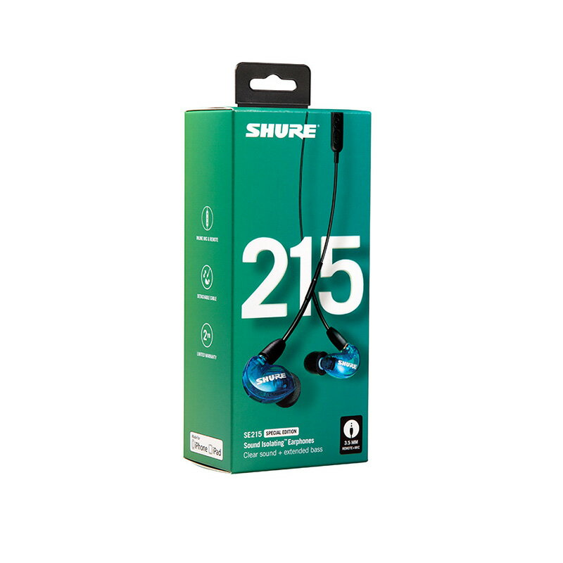 SHURE(シュア) SE215SPE-B-UNI-A (トランス・ルーセント・ブルー)
