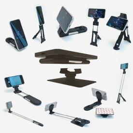 自撮り棒+三脚+スマホスタンドとして使えるSLIM SMART SHUTTER(トラベルキット) スマートフォン スマホアクセサリー 車載スマホホルダー