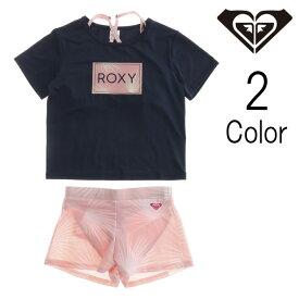 RoxyKids / ロキシーキッズ MINI PALM DANCE ラッシュTシャツ付き スウィムウェア / 子供服 【返品・交換不可】