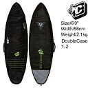 """Creatures Of Leisure SurfBoards HardCase Double Boardcovers 6'0"""" / クリエイチャー ショートボード ハードケース ダブルケース 18…"""