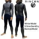 リンコン ウェットスーツ 5/3mm セミドライ フルスーツ ネオクラシック バックジップ モデル / Rincon WetSuit 5/3m…