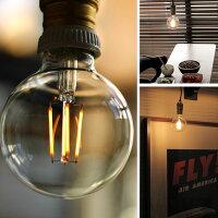 ミッドセンチュリーやカフェ風インテリアに相性抜群の裸電球
