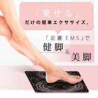 簡単!乗せるだけの脚痩せ、健脚トレーニング。足裏用EMS。