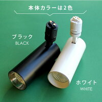ホワイト(白)とブラック(黒)の2色。エジソンスマートスポットライト。