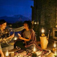 キャンプやフェス、インテリアに最適のおしゃれなLEDランタン。まるでロープ芯を燃やしているようなLEDランタン。