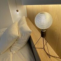 ベッドサイドの間接照明代わりに。おしゃれなカレイドランプ。LED照明。LED電球。口金E26。ドット柄。水玉柄。