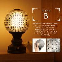 カレイドランプタイプB(麻の葉柄)。竹籠編みのような格子線柄のLED電球。アジアンテイスト、北欧ビンテージインテリに合うLED電球。
