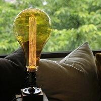 レトロでおしゃれなノスタルジア電球。ノスタルジックな灯り。シェードがいらないLED電球。A型電球