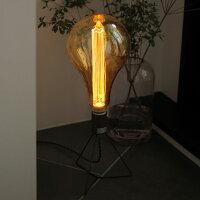 レトロでおしゃれなノスタルジア電球。ノスタルジックな灯り。シェードがいらないLED電球。A型電球。スタンドライトにもおすすめ。店舗用照明にも。