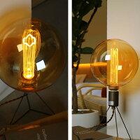 レトロでおしゃれなノスタルジア電球。ノスタルジックな灯り。シェードがいらないLED電球。ボール型電球