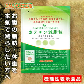 【送料無料】カテキン減脂粒 DMJえがお生活 31日分 日本製 機能性表示食品|お腹の脂肪を減らす カテキンサプリ カテキン粒 ガレート型カテキン 緑茶 カテキン粒 エピガロカテキンガレート EGCG おなかの脂肪が気になる方へ タブレット 内臓脂肪 皮下脂肪