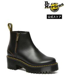 ドクターマーチン ヒール Rometty II Chelsea Boot 26200001 Black Vintage Smooth Dr.Martens ロメティII チェルシーブーツ アンクルブーツ チャンキーヒール レディース