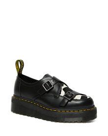 Dr.Martens Sidney Double Monk Shoe Quad Creepers 26204001 Black Smooth & Friesian Hair On ドクターマーチン シドニー ダブルモンク クリーパーシューズ メンズ レディース