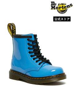 【ポイント10倍 10/11 2:00〜10/20 23:59まで】【公式】ドクターマーチン キッズ 初回交換送料無料 Core Kids 1460 Patent Toddler Infants Lace Boot 27106416 Mid Blue Patent Lamper Dr.Martens 1460 パテント トドラー 8ホー
