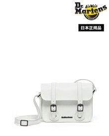 【ポイント10倍 3月11日01:59まで】Dr.Martens 7inch Leather Satchel Bag AC917122 White Smooth & White Kiev ドクターマーチン 7インチ レザー サッチェル バッグ