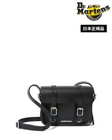 【ポイント10倍 3月11日01:59まで】ドクターマーチン 7inch Leather Satchel Bag Black AB098001 Dr.Martens 7インチ レザー サッチェル バッグ