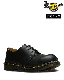 ドクターマーチン Icons 1925 Steel Toe 3 Eye Shoe 10111001 Black Dr.Martens スチールトゥ 3ホール シューズ イエローステッチ メンズ レディース