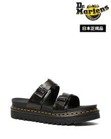 ドクターマーチン サンダル Zebrilus Myles Slide Sandal 23523001 Black Dr.Martens マイルス スライド レザー メンズ レディース