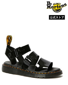 Dr.Martens Gryphon Strap Sandal 25515001 Black Patent ドクターマーチン グリフォン パテント ストラップ サンダル イエローステッチ メンズ レディース