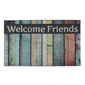 【お取り寄せ】AZUMAYA(東谷) ドアマット Welcome Friends| LFS-753A